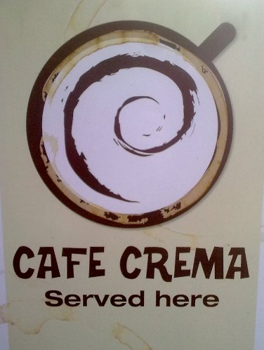 Cafe Crema served here